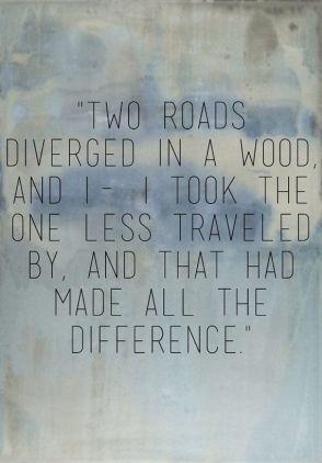 """Robert Frost """"The Road Not Taken"""" (no kādas izlases)"""